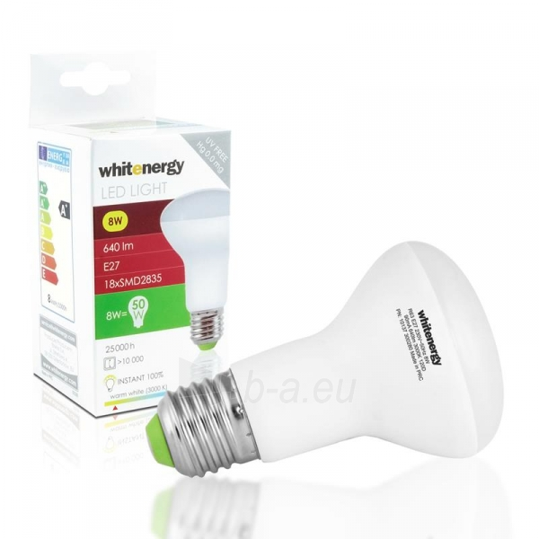 LED lemputė Whitenergy | E27 | 18 SMD 2835 | 8W | 230V| pienas | R63 Paveikslėlis 2 iš 7 310820049344