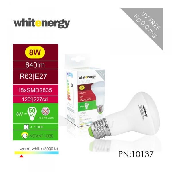 LED lemputė Whitenergy | E27 | 18 SMD 2835 | 8W | 230V| pienas | R63 Paveikslėlis 5 iš 7 310820049344