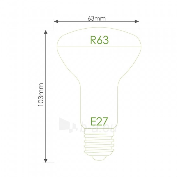 LED lemputė Whitenergy | E27 | 18 SMD 2835 | 8W | 230V| pienas | R63 Paveikslėlis 7 iš 7 310820049344