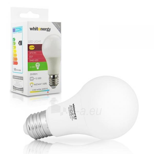 LED lemputė Whitenergy | E27 | 6 SMD 2835 | 5.5W |230V| pienas|šalta balta | A60 Paveikslėlis 5 iš 6 310820049368