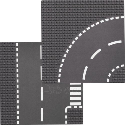 Lego 7281 City T-Junction and Curved Road Plates Paveikslėlis 2 iš 2 30005400391