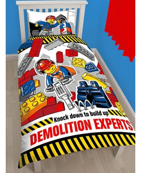 Lego City herojų dvipusės patalynės komplektas (Statybos) Paveikslėlis 1 iš 2 310820014664