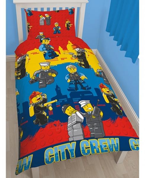 Lego City herojų dvipusės patalynės komplektas (Ugniagesiai ir Policininkai) Paveikslėlis 1 iš 3 310820014665
