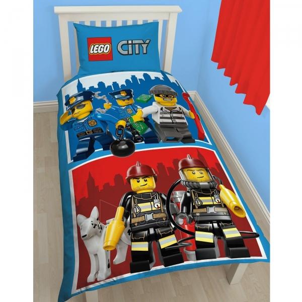 Lego City herojų dvipusės patalynės komplektas Paveikslėlis 1 iš 3 30115700641