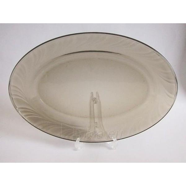 Lėkštė 31cm ovali stikl. FUME NS-38-545 Paveikslėlis 1 iš 1 310820029811