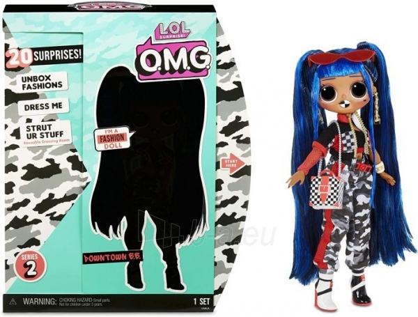 Lėlė 559788 LOL Surprise OMG Downtown B.B. Fashion Doll with 20 Surprises L.O.L. Paveikslėlis 1 iš 6 310820252814