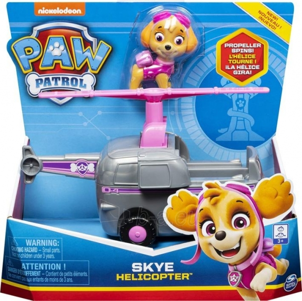Lėlė 6052310 PAW Patrol Skye's Helicopter Vehicle with Collectible Figure SKYE SPIN MASTER Paveikslėlis 4 iš 6 310820252860
