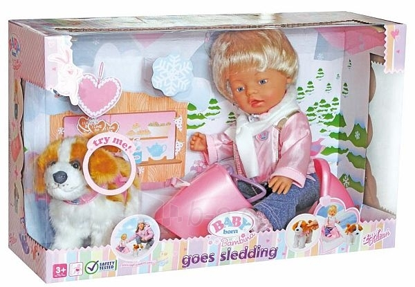 812211 Zapf Creation Lelle Baby Born su rogutėmis Paveikslėlis 1 iš 2 250710900125