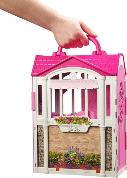 Lėlė CFB65 Mattel Barbie – Carrying Case House & Doll Барби Переносной домик + Кукла Paveikslėlis 3 iš 6 310820252863