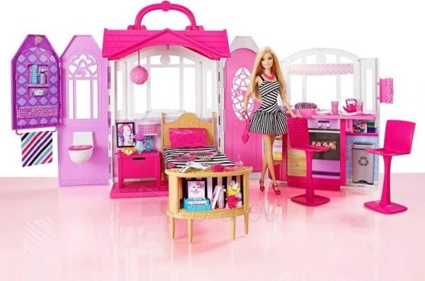 Lėlė CFB65 Mattel Barbie – Carrying Case House & Doll Барби Переносной домик + Кукла Paveikslėlis 4 iš 6 310820252863