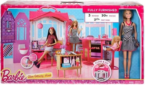 Lėlė CFB65 Mattel Barbie – Carrying Case House & Doll Барби Переносной домик + Кукла Paveikslėlis 5 iš 6 310820252863