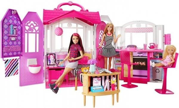 Lėlė CFB65 Mattel Barbie – Carrying Case House & Doll Барби Переносной домик + Кукла Paveikslėlis 6 iš 6 310820252863