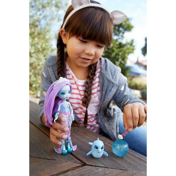 Lėlė FKV55 / FKV54 Enchantimals Dolce Dolphin Doll & Largo Animal Figure MATTEL Paveikslėlis 1 iš 2 310820137225