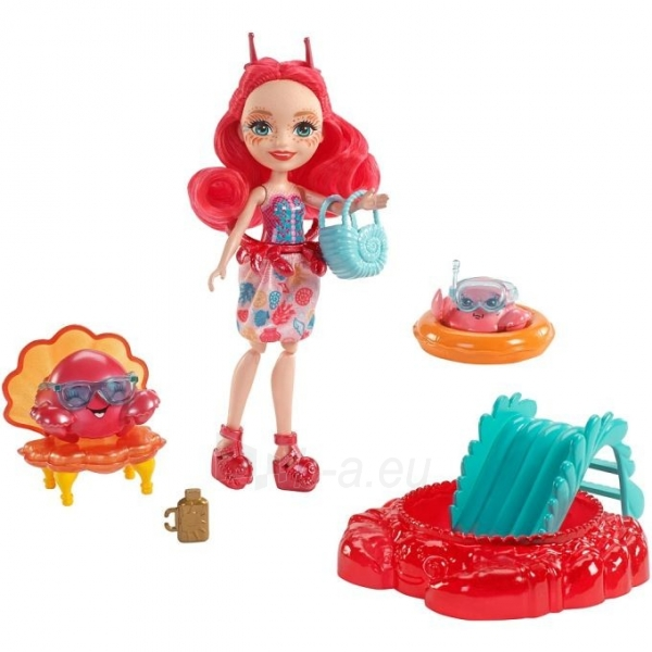 Lėlė FKV60 / FKV58 Enchantimals Cameo Crab Dolls - Mattel Paveikslėlis 2 iš 6 310820137219