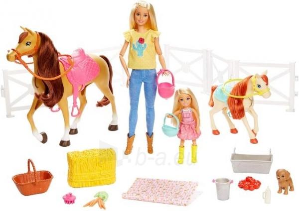 Lėlė FXH15 Hugs N Horses - playset Barbie and Chelsea and 2 horses MATTEL Paveikslėlis 2 iš 6 310820252906