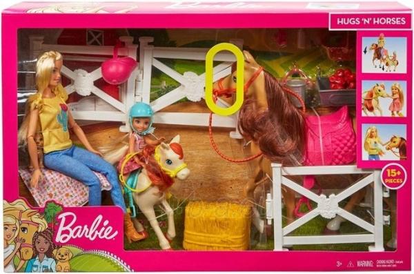 Lėlė FXH15 Hugs N Horses - playset Barbie and Chelsea and 2 horses MATTEL Paveikslėlis 4 iš 6 310820252906