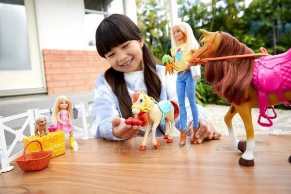 Lėlė FXH15 Hugs N Horses - playset Barbie and Chelsea and 2 horses MATTEL Paveikslėlis 6 iš 6 310820252906