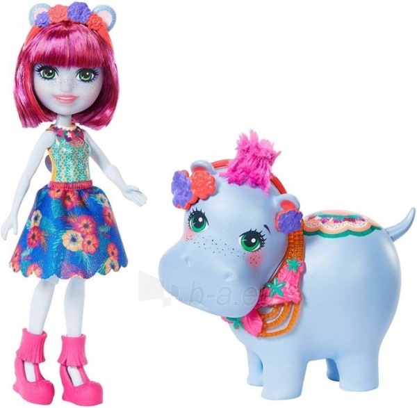 Lėlė GFN56 Enchantimals Hedda Hippo Doll & Lake Animal Figure MATTEL Paveikslėlis 6 iš 6 310820252838