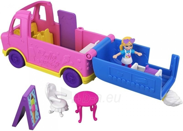Lėlė GGC40 Mattel Figures set Polly Pocket Pollyville Ice Cream Truck Paveikslėlis 6 iš 6 310820230609
