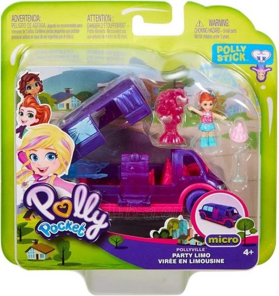 Lėlė GGC41 Mattel Figures set Polly Pocket Pollyville Ice Limousine Paveikslėlis 2 iš 6 310820230608