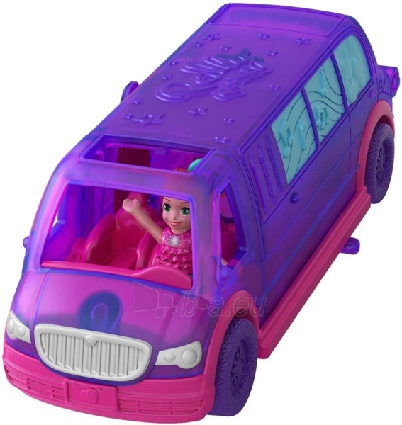 Lėlė GGC41 Mattel Figures set Polly Pocket Pollyville Ice Limousine Paveikslėlis 3 iš 6 310820230608
