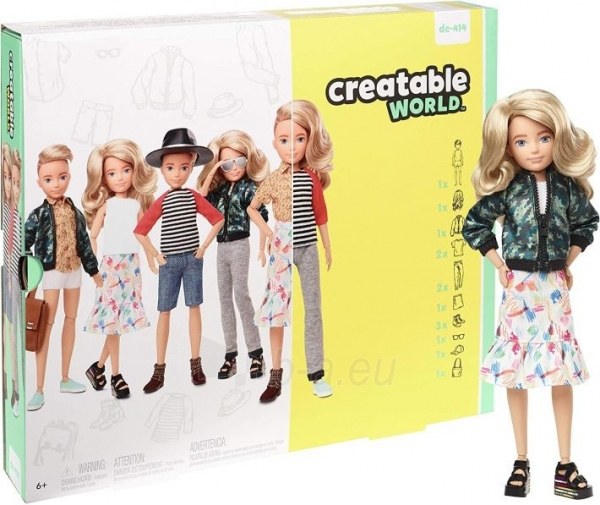 Lėlė GGT67 Creatable World Deluxe Character Kit Customizable Doll with Blonde Wavy Hair, 6 Pieces Doll Cl Paveikslėlis 1 iš 6 310820252870
