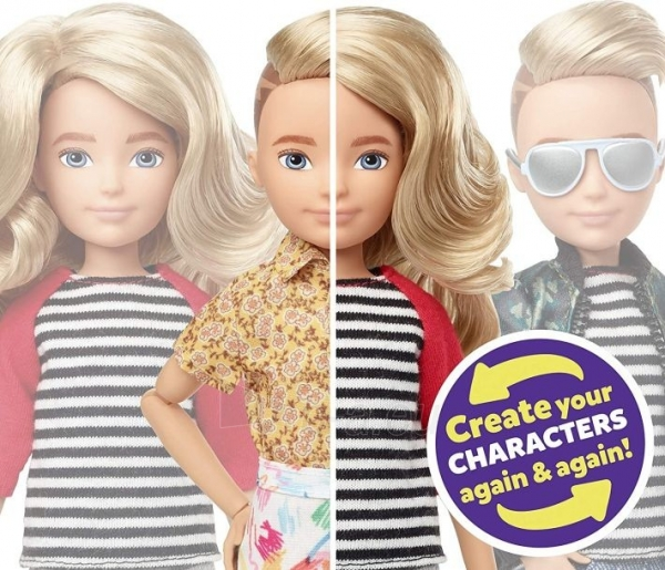 Lėlė GGT67 Creatable World Deluxe Character Kit Customizable Doll with Blonde Wavy Hair, 6 Pieces Doll Cl Paveikslėlis 4 iš 6 310820252870