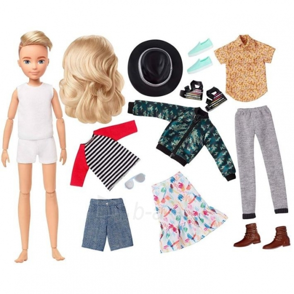 Lėlė GGT67 Creatable World Deluxe Character Kit Customizable Doll with Blonde Wavy Hair, 6 Pieces Doll Cl Paveikslėlis 5 iš 6 310820252870