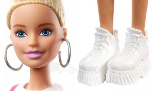 Lėlė GHW56 ��Barbie Fashionistas Doll with Blonde Updo Hair Wearing Pink MATTEL Paveikslėlis 3 iš 6 310820230658