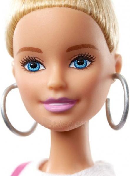 Lėlė GHW56 ��Barbie Fashionistas Doll with Blonde Updo Hair Wearing Pink MATTEL Paveikslėlis 4 iš 6 310820230658