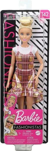 Lėlė GHW56 ��Barbie Fashionistas Doll with Blonde Updo Hair Wearing Pink MATTEL Paveikslėlis 5 iš 6 310820230658