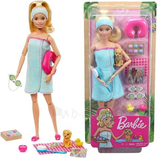 Lėlė GJG55 Barbie Spa Doll, Blonde, with Puppy and 9 MATTEL SPA Paveikslėlis 1 iš 6 310820252834
