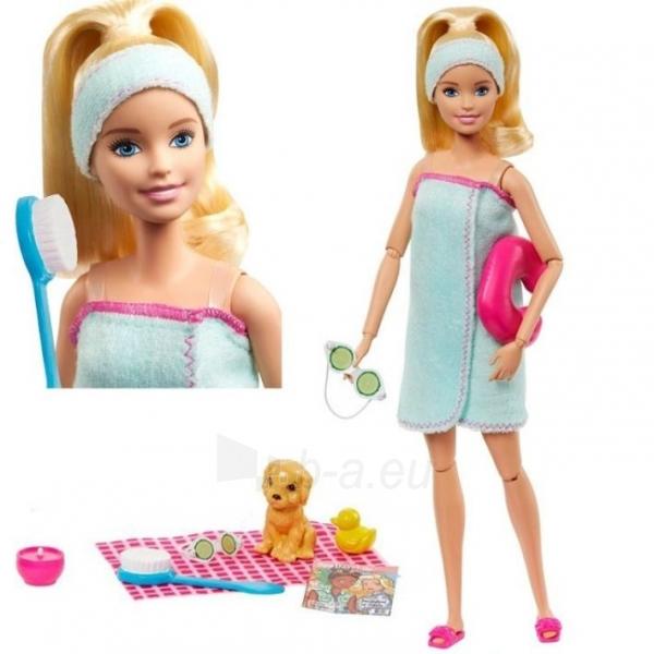 Lėlė GJG55 Barbie Spa Doll, Blonde, with Puppy and 9 MATTEL SPA Paveikslėlis 2 iš 6 310820252834