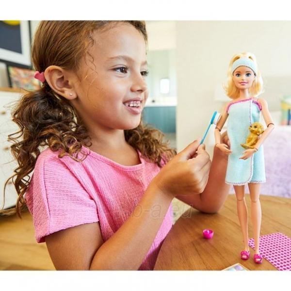 Lėlė GJG55 Barbie Spa Doll, Blonde, with Puppy and 9 MATTEL SPA Paveikslėlis 4 iš 6 310820252834
