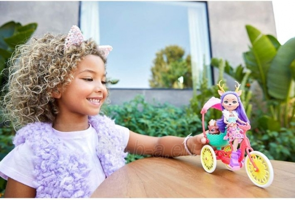 Lėlė GJX30 Enchantimals Bike Buddies with DANESSA Deer Doll & Sprint MATTEL Paveikslėlis 2 iš 6 310820252866