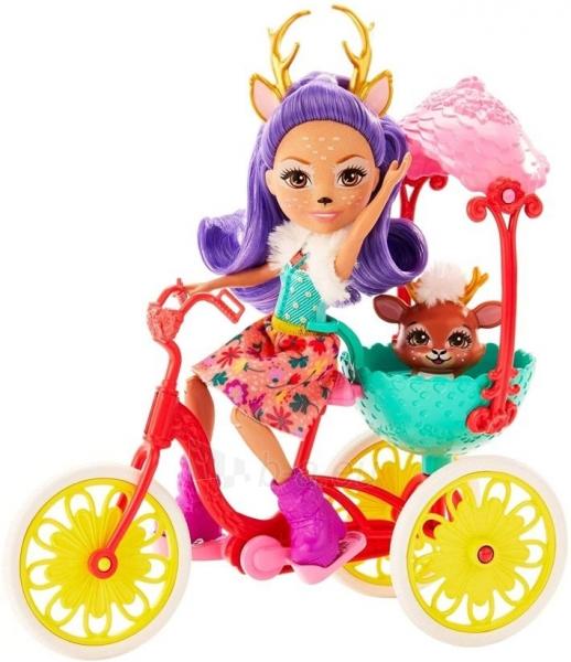 Lėlė GJX30 Enchantimals Bike Buddies with DANESSA Deer Doll & Sprint MATTEL Paveikslėlis 5 iš 6 310820252866
