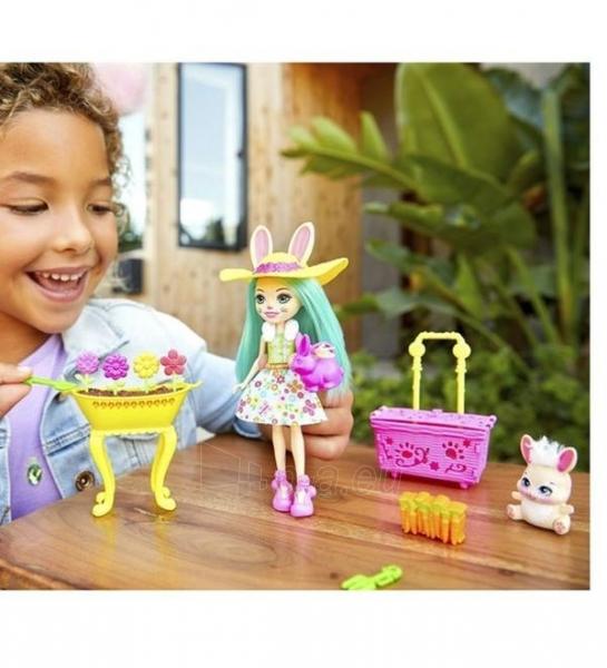 Lėlė GJX33 Enchantimals Bunny Blooms Playset with Fluffy Bunny Doll MATTEL Волшебный сад Флаффи Кр Paveikslėlis 3 iš 6 310820252837