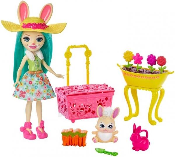 Lėlė GJX33 Enchantimals Bunny Blooms Playset with Fluffy Bunny Doll MATTEL Волшебный сад Флаффи Кр Paveikslėlis 5 iš 6 310820252837