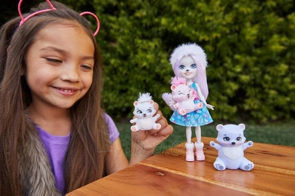 Lėlė GJX47 / GJX43 Enchantimals Pristina Polar Bear Doll & Family Paveikslėlis 1 iš 6 310820252910