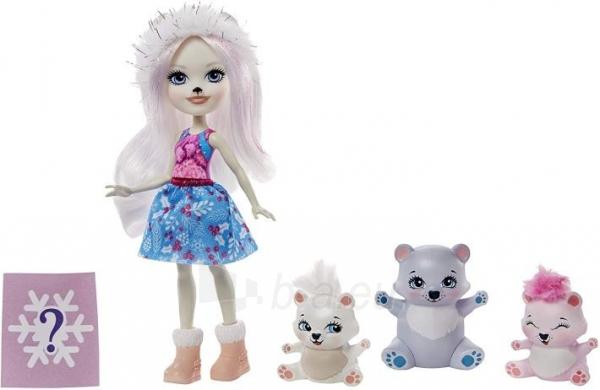 Lėlė GJX47 / GJX43 Enchantimals Pristina Polar Bear Doll & Family Paveikslėlis 2 iš 6 310820252910