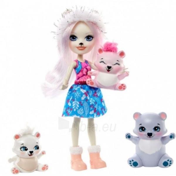 Lėlė GJX47 / GJX43 Enchantimals Pristina Polar Bear Doll & Family Paveikslėlis 3 iš 6 310820252910