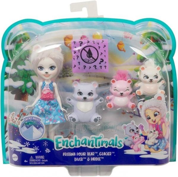 Lėlė GJX47 / GJX43 Enchantimals Pristina Polar Bear Doll & Family Paveikslėlis 4 iš 6 310820252910
