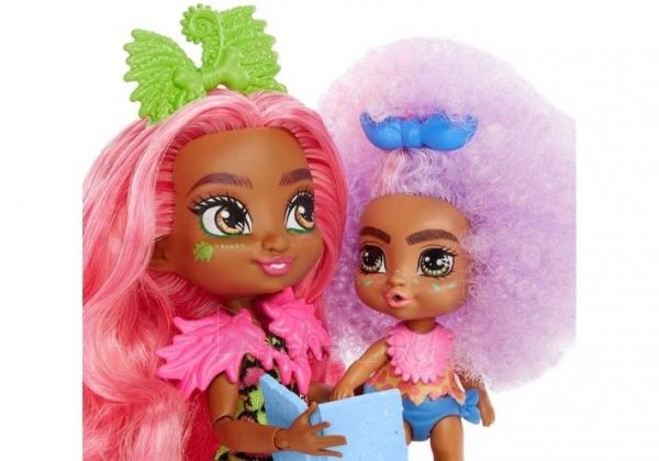 Lėlė GNL92 Cave Club Wild About Babysitting Playset Mattel Paveikslėlis 2 iš 6 310820252877