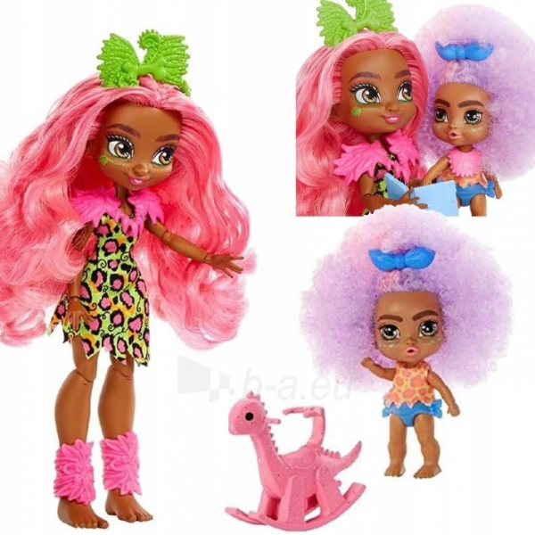 Lėlė GNL92 Cave Club Wild About Babysitting Playset Mattel Paveikslėlis 3 iš 6 310820252877