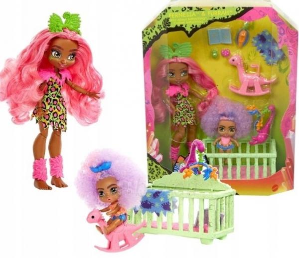Lėlė GNL92 Cave Club Wild About Babysitting Playset Mattel Paveikslėlis 4 iš 6 310820252877