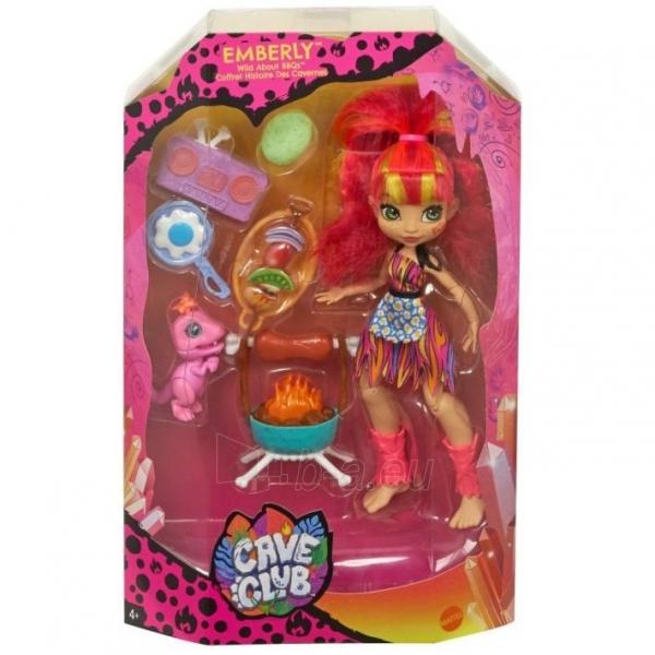 Lėlė GNL96 / GNL94 Cave Club - Wild About BBQs Playset + Emberly Doll MATTEL Paveikslėlis 4 iš 6 310820252878