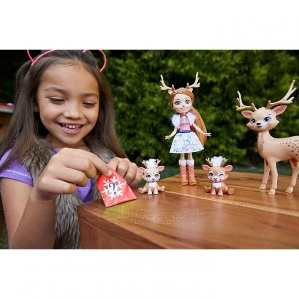 Lėlė GNP17 / GJX43 Enchantimals Rainey Reindeer Doll & Family MATTEL Paveikslėlis 1 iš 6 310820252911