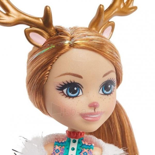 Lėlė GNP17 / GJX43 Enchantimals Rainey Reindeer Doll & Family MATTEL Paveikslėlis 3 iš 6 310820252911