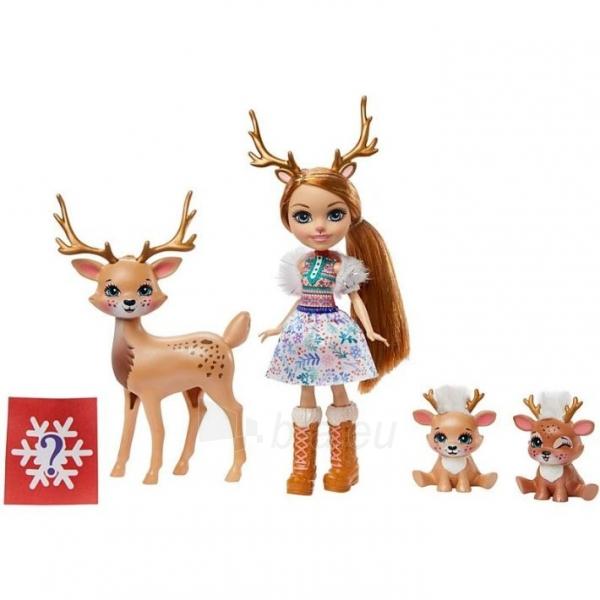 Lėlė GNP17 / GJX43 Enchantimals Rainey Reindeer Doll & Family MATTEL Paveikslėlis 5 iš 6 310820252911