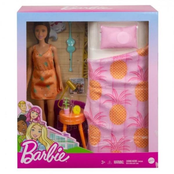 Lėlė GRG86 / GTD87 Mattel Barbie Doll And Bedroom Furniture Playset Paveikslėlis 4 iš 6 310820252920